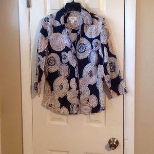 Talbots 3/4 sleeve blouse Sz:M